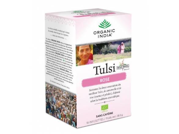 Tulsi-rose-biologique